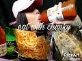 Pig chips and sloppy corn MUKBANG