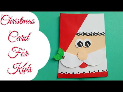 Easy Christmas Cards Designs.Diy Santa Christmas Cards Making Christmas Card For Kids Simple Easy Card For Christmas Cute Card