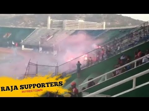 Pyroshow from Raja Supporters in Freetown