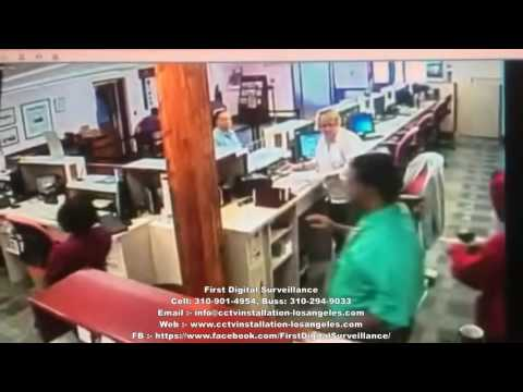 St George's Bank Robbery CCTV Footage | IP Cameras Installation Los Angeles | FDS