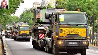 Massive Convoy of Tanks in Paris on Bastille Day