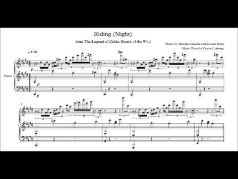 Zelda Breath of the Wild - Riding/On Horse (Night) - Music Sheet