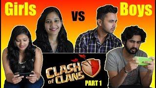 Clash Of Clans Girls Vs Boys - Part 1 | Coc Funny Video | Dekhte Rahoo