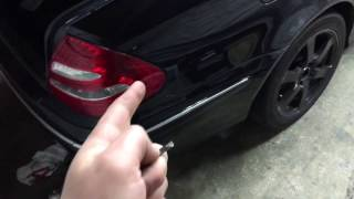 How To Open Mercedes Trunk With Dead Battery And Key Doesn't Work!!!