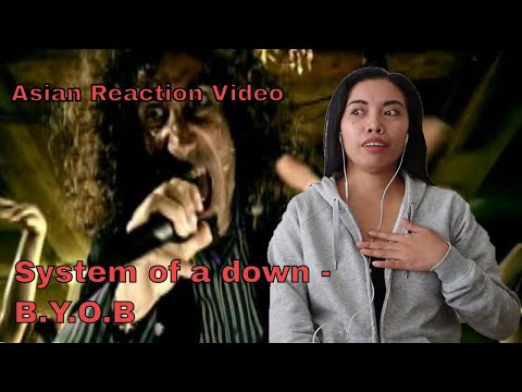 B.Y.O.B By SYSTEM OF A DOWN Reaction WITH LYRICS | Asian Reaction Videos