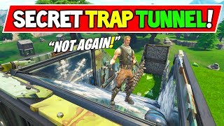 *NEW* BAITING NOOBS INTO A SECRET TRAP TUNNEL IN FORTNITE BATTLE ROYALE! (I Made Fortnite More Fun)