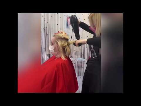 Процесс женская стрижка мастер Мария Бондаренко  салон красоты La Familia Salon Гагарина 11 Бровары
