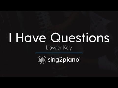 I Have Questions [LOWER Piano Karaoke] Camila Cabello