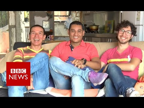 Meet the trio who 'married' each other - BBC News