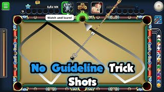 No Guide Line Trick Shots | 8 Ball Pool | Syed Mk