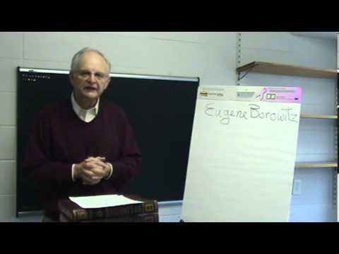 HUC-JIR: Philosophy 402 with Dr. Barry Kogan - Part 1 of 5