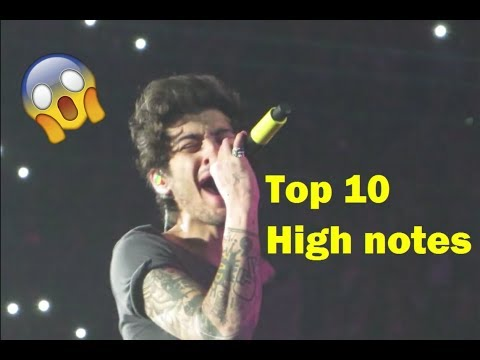 Zayn's Top 10 High Notes
