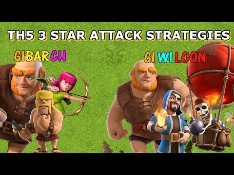 BEST TH5 3 STAR ATTACK STRATEGIES - Clash Of Clans 2018
