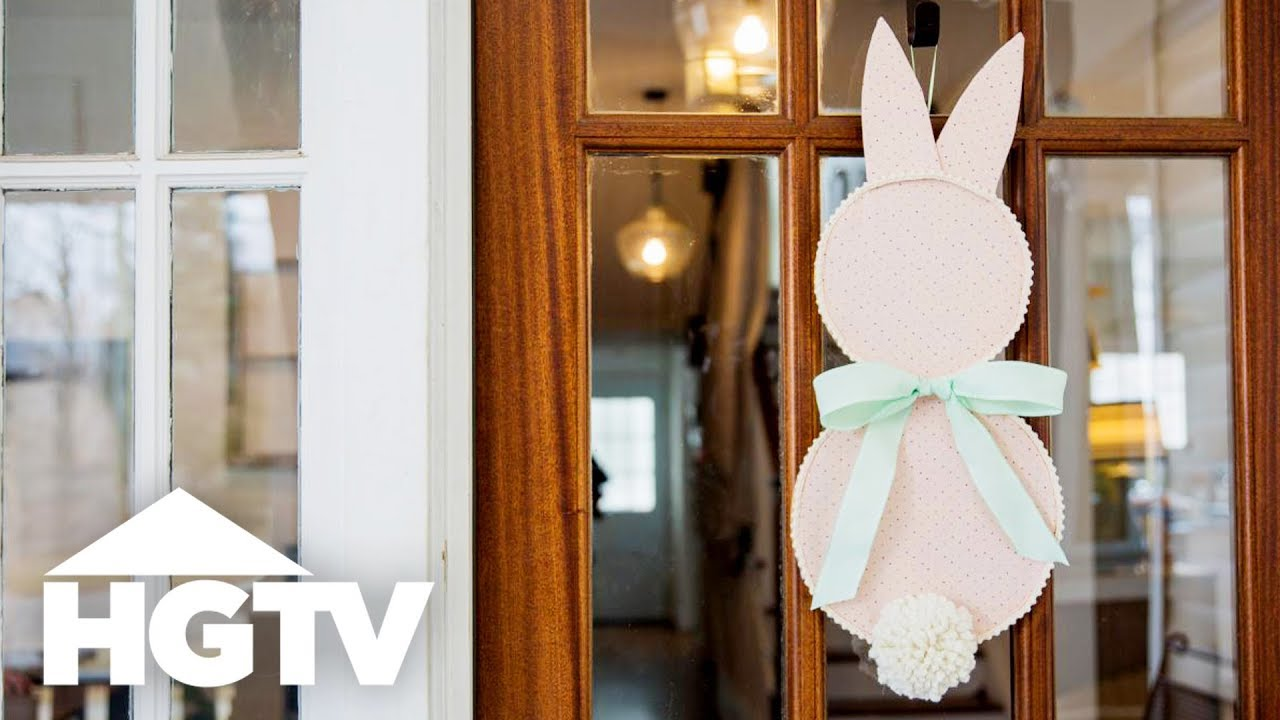 How to Make a Bunny Door Decoration for Easter | HGTV Happy | HGTV