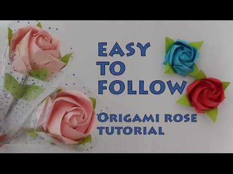 Simple Origami Rose Tutorial