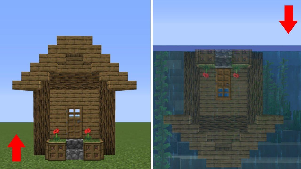 เมื่อบ้าน!! อยู่ได้ทั้งบนบกและในน้ำ | Minecraft