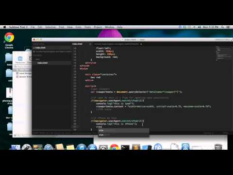 JavaScript Html5   Dynamic Meta Viewport Scaling For IPad, IPhone And Mobile Devices 720p