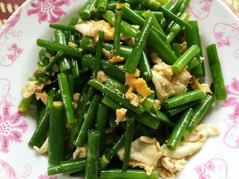Spring Onion with Egg Recipe