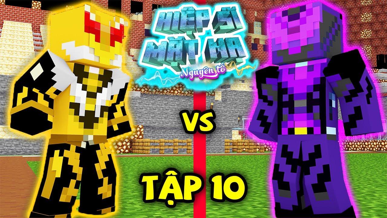 Tập 10 : Nguyên Tố Hắc Ám Đã Trở Lại !!! ( Minecraft Hiệp Sĩ Mặt Nạ Nguyên Tố )