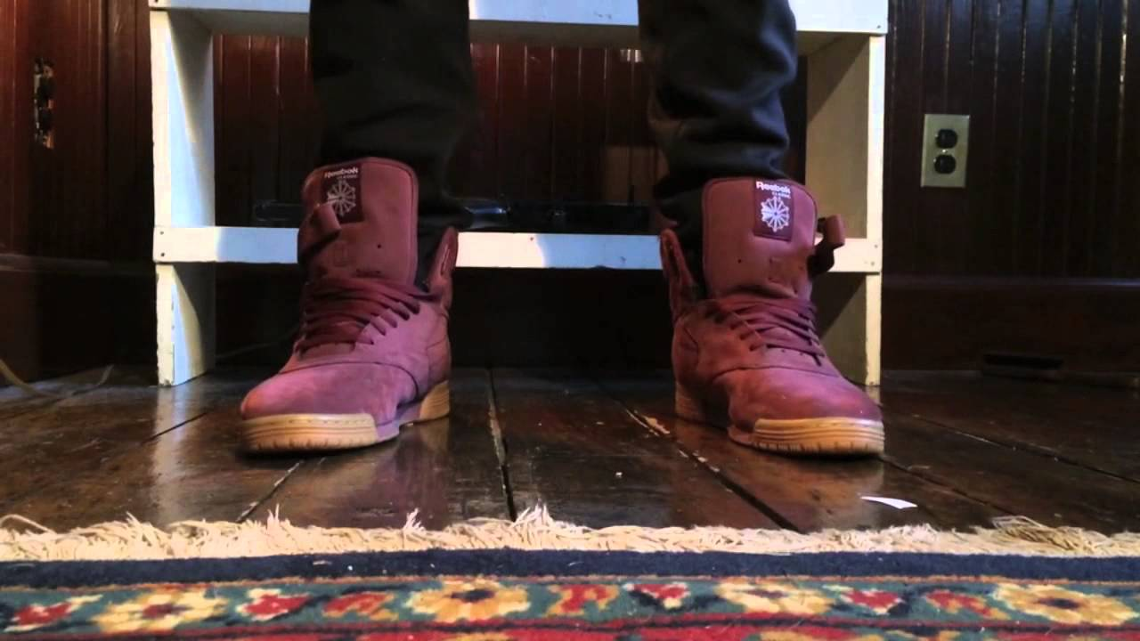 ee55541e78cc Reebok Exo Fit Maroon on foot review - YouTube