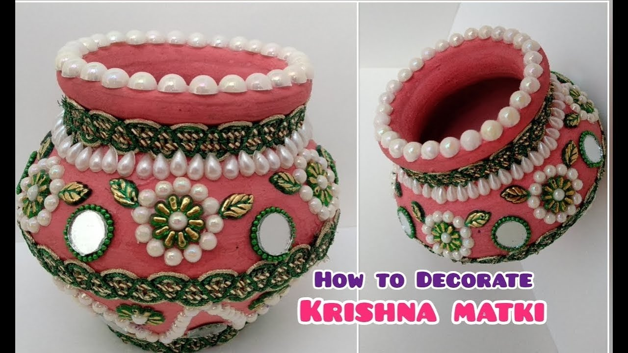 Diy How To Decorate Navratri Matuki At Home Decorate Pot At Home