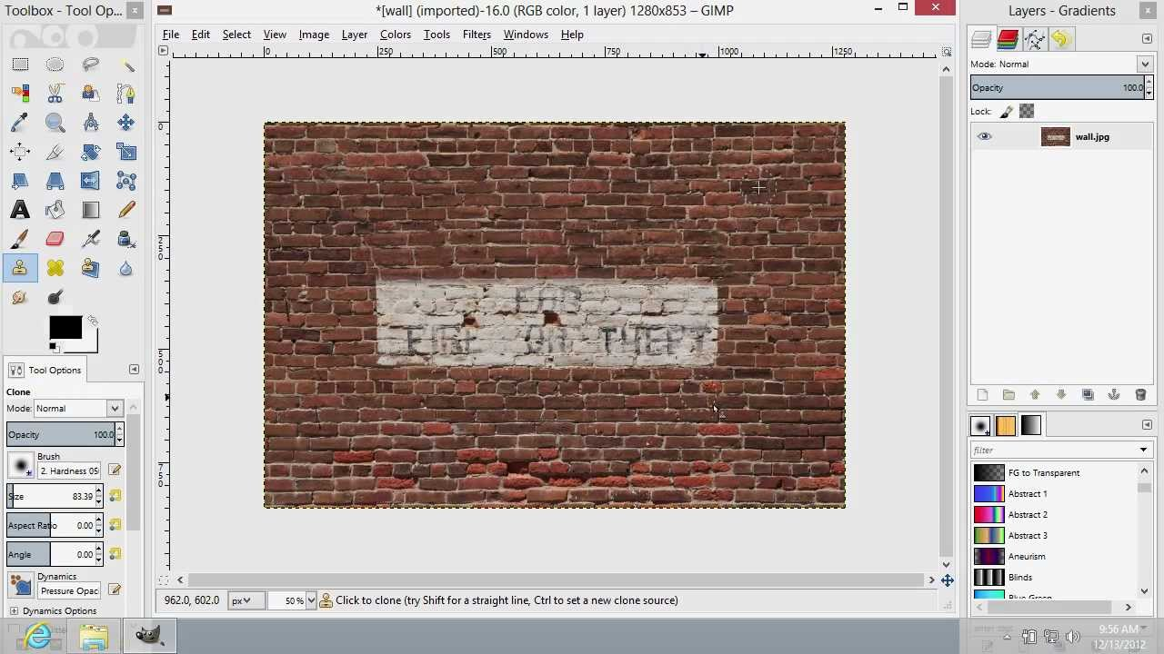 how to copy and paste using gimp