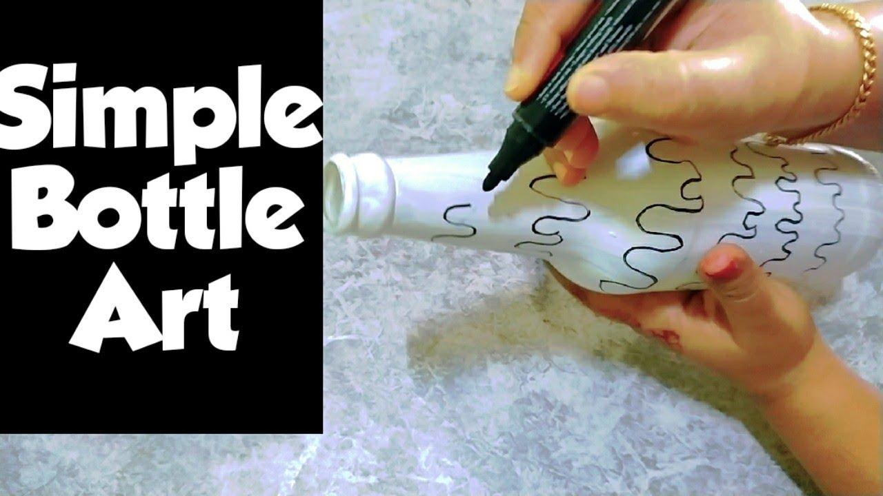 bottle craft/glass bottle art/best out of waste/tessyvlogs/ideatrik/reuse craft/