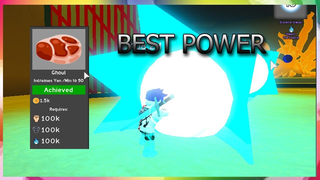 Roblox Anime Fighting Simulator Chakra Getting The Ghoul Class And All The Powers In Anime Fighting Simulator Roblox Youtube
