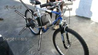 Starter Motor Powered Electric Bike