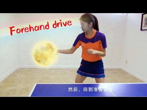 How to play forehand drive 如何打正手攻球