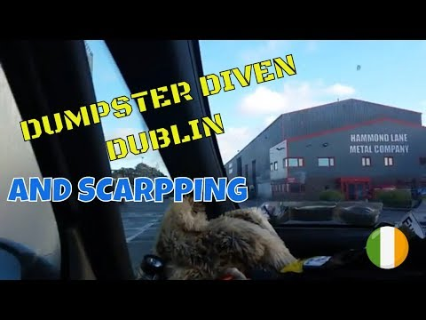 Dumpster diving Ireland lets go to scarp yard and diven part1