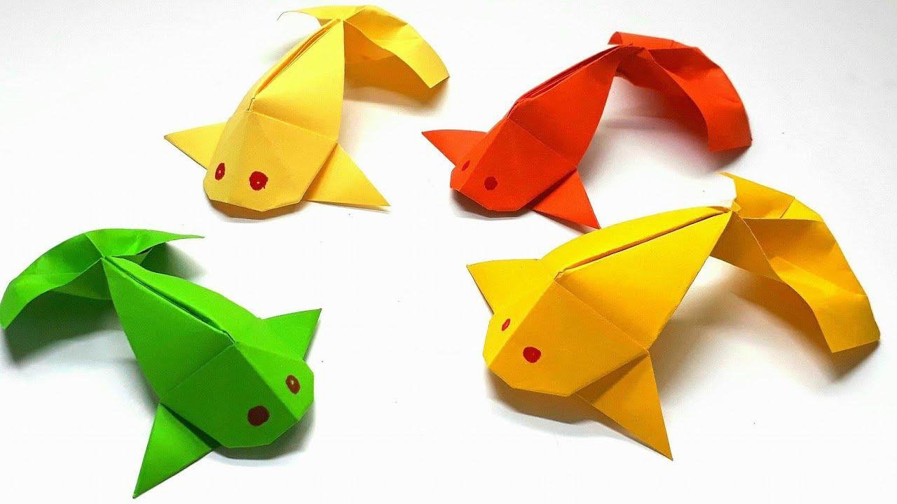 Origami Tutorial How To Fold An Fish Koi Youtube Diagram