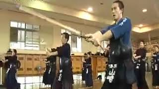 Japan high school kendo training