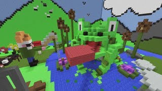 Minecraft Xbox - Hunger Games In The Magic Garden - Round 3