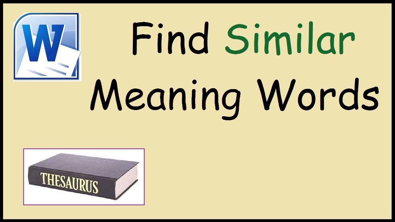 words with similar meanings