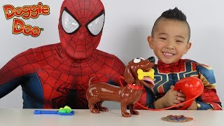 Spider Dad Vs Iron Spider Funny Kids Game Doggie Doo Fun With CKN Toys