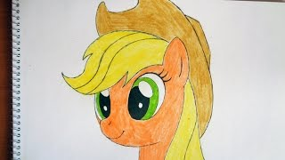 How to draw my little pony Applejack, Как нарисовать пони, как рисовать пони