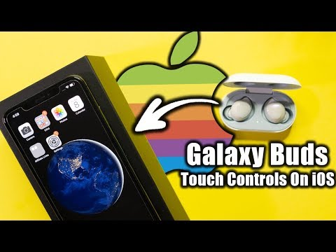 GALAXY BUDS TOUCH CONTROLS ON iPHONE