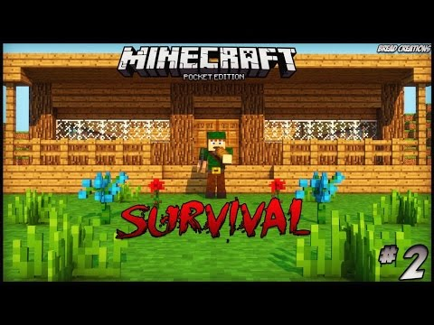 Minecraft pe survival 02 conhe am minha casa for Casa moderna minecraft 0 12 1