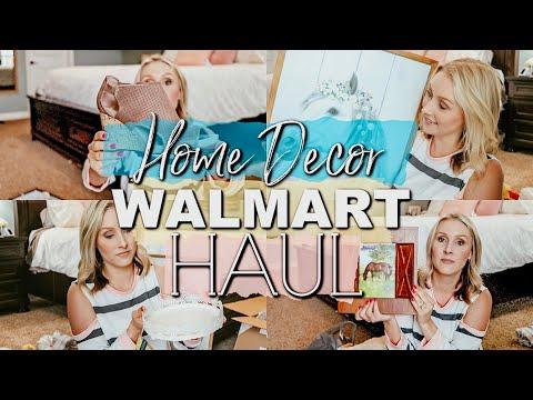 HUGE WALMART ,HOBBY LOBBY HAUL  WALMART HOBBY LOBBY FARMHOUSE DECOR HAUL 2019  EXTREME ROOM MAKEOVER