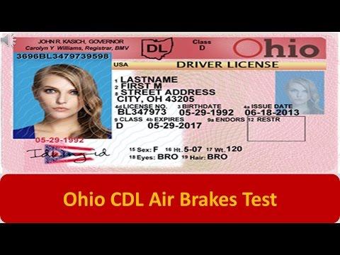 Ohio CDL Air Brakes Test