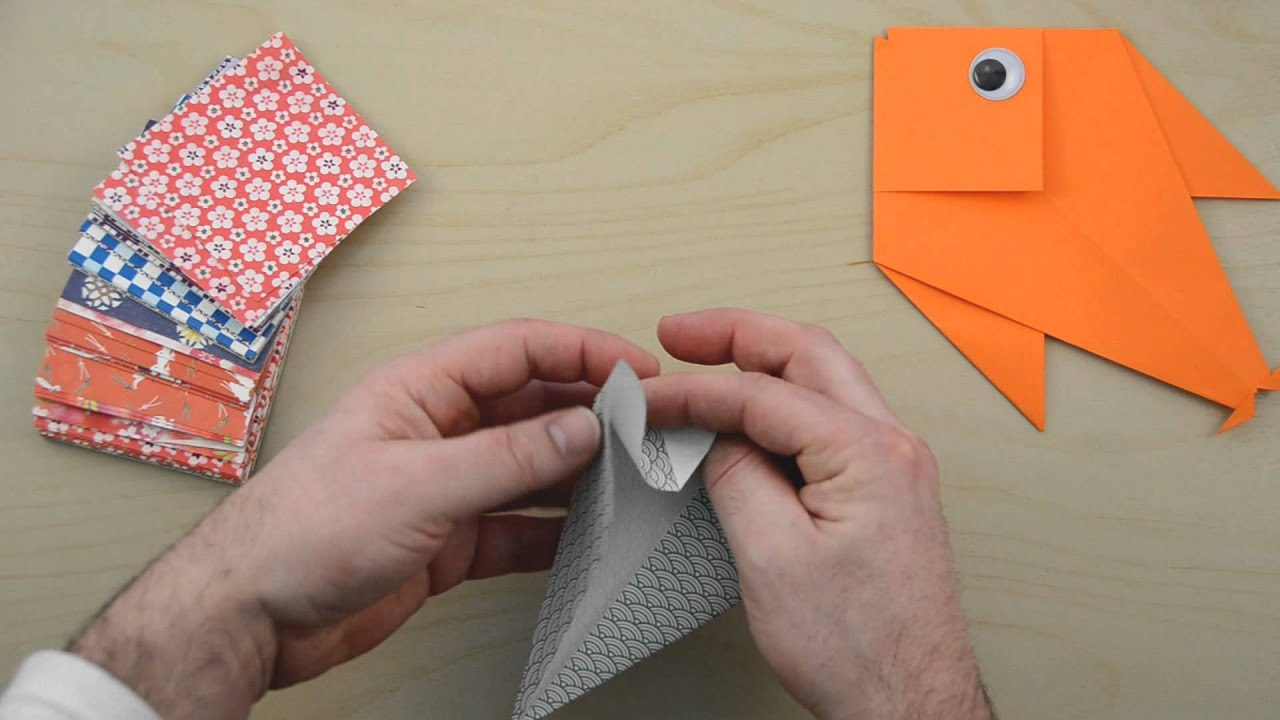 how to make a origami fish youtube