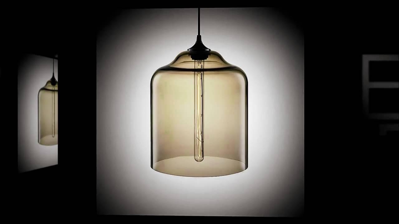 bell jar modern pendant light by niche modern youtube