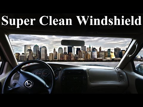 How to Super Clean the INSIDE of Your Windshield (No Streaks)