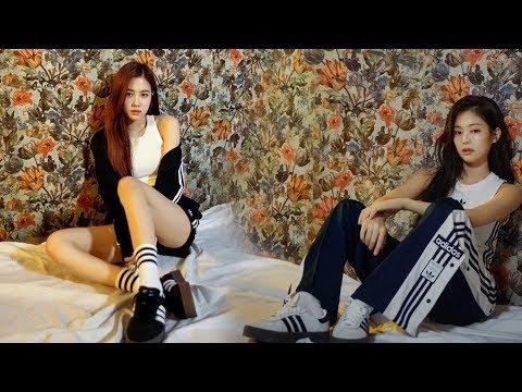 [June 7, 2018] BLACKPINK Jennie And Rose For Adidas Sambarose