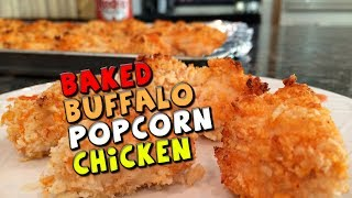 Baked Buffalo Popcorn Chicken Recipe (healthy)