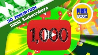 Green Screen YOUTUBE 1,000 Subscribers Counter - PixelBoom 3D Animations