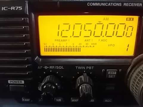 12050 kHz Dandal Kura Radio, via Dhabbaya UNITED ARAB EMIRATES