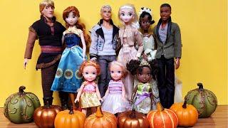 Thanksgiving 2020 ! Elsa & Anna Toddlers - Dinner - Turkey - Crafts - Pie