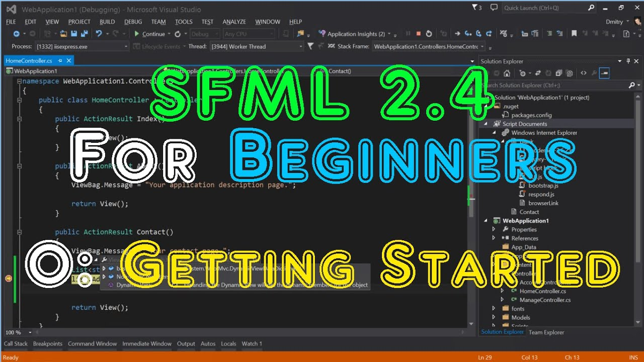 SFML 2 4 For Beginners - 0: Getting Started